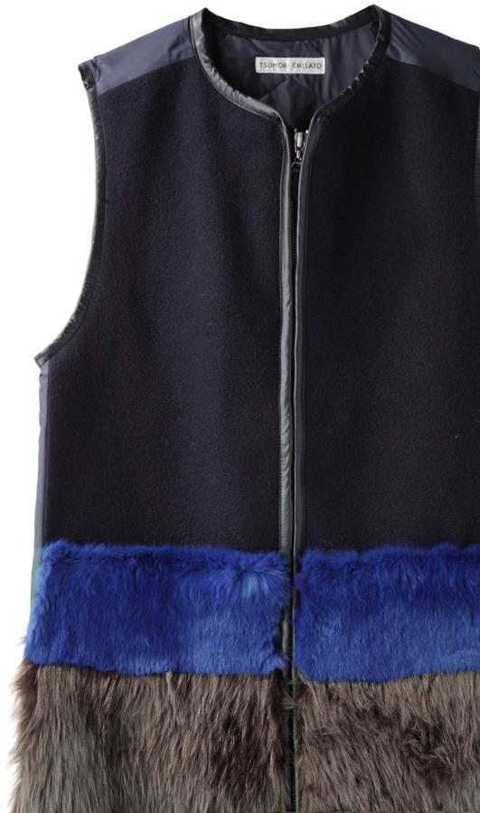 Tsumori Chisato colorblocked furry vest