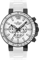 Jacques Lemans Milano 1-1696G Men's Chronograph White Silicone Strap Watch