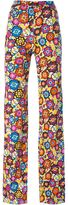 Emilio Pucci floral print trousers - women - Silk/Rayon - 40