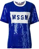 MSGM beaded detail T-shirt - women - Polyamide/Polyester - 40