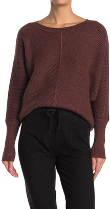 Cyrus Ribbed Dolman Sleeve Pullover Sweater
