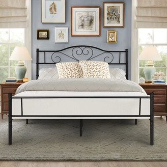 Senecal Living Metal Platform Bed Fleur De Lis Living Size: Queen