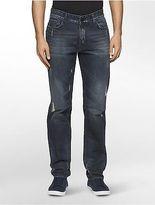 Calvin Klein Mens Slim Straight Metal Blue Wash Jeans