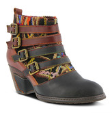 Spring Step L'artiste By L'Artiste by Women's Casual boots BLACK - Black & Burgundy Redding Leather Bootie - Women