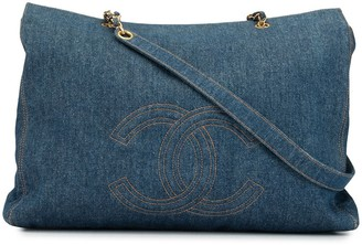 Chanel Pre Owned 1997 Jumbo XL CC logos shoulder bag