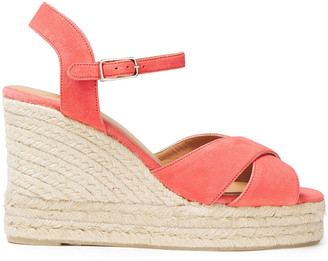 Castaner Suede Wedge Espadrille Sandals