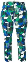 DSQUARED2 feather print chinos