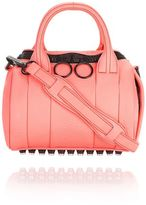 Alexander Wang Mini Rockie In Pebbled Fluo Coral With Matte Black