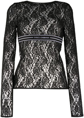 Dolce & Gabbana Long-Sleeved Lace Top