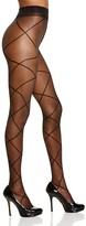 Pretty Polly Alice + Olivia by Sheer Diamond Lace-Up Illusion Tights