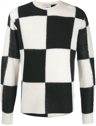 Tiger of Sweden colour block knitted jumper