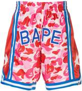 Bape camouflage logo shorts