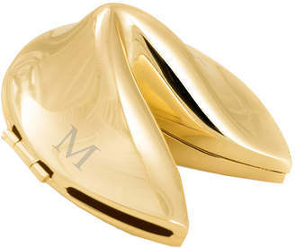 Bey-Berk Gold Plated Fortune Cookie Box