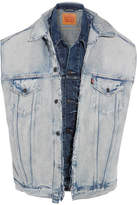 Vetements Levi's Oversized Distressed Denim Vest - Mid denim