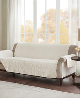 Madison Park Bismarck Embroidered Faux-Fur Sofa Protector