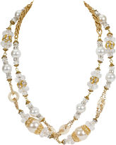 One Kings Lane Vintage Vrba Gold Rhinestone Pearl Necklace