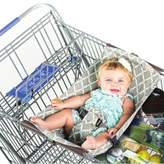 Binxy Baby® Shopping Cart Hammock in Grey/Aqua Quatrefoil