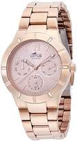 Lotus Women's Quartz Watch with Rose Gold Dial Analogue Display and Stainless Steel Rose Gold Plated Bracelet 15915/2
