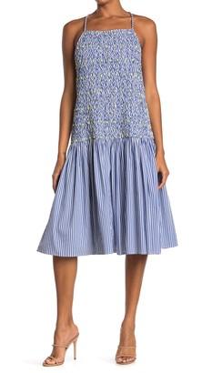Tanya Taylor Cindy Drop Waist Midi Dress