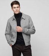 Reiss Reiss Foxbury - Collared Jacket In Grey, Mens
