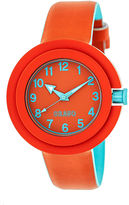 Crayo Womens Equinox Red Strap Watch Cracr2801