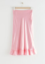 Thumbnail for your product : And other stories Ruffled Crepe Midi Skirt