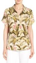 Tommy Bahama Women's 'Beau Jardin' Print Silk Boyfriend Shirt