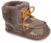 UGG Infant Boy's Sparrow Camo Genuine Shearling Moccasin Bootie