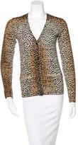 Dolce & Gabbana Wool Cheetah-Print Cardigan