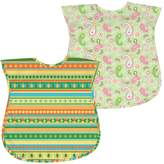 I Play Green Sprouts by 2-pk. Paisley & Striped Waterproof Bibs - Baby
