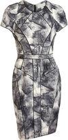 Fur Print Sheath Dress