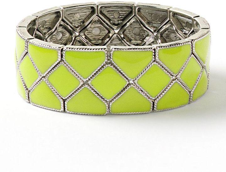 Vera Wang Simply vera tone textured stretch bracelet
