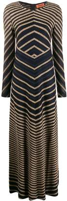 Missoni chevron-stripe maxi-dress