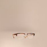 Burberry Half-rimmed Oval Optical Frames