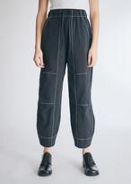 Neul Women's Contrast Stitch Pants in Black, Size 1