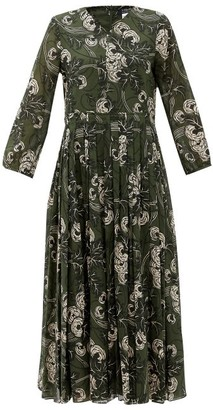 S Max Mara Amalfi Dress - Khaki Multi