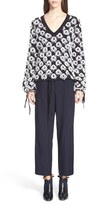 Chloé Women's Knit Fringe Jacquard Cotton & Linen Sweater