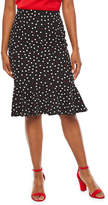 Bold Elements Womens Midi Flared Skirt