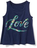 Old Navy Graphic Swing Tank for Toddler Girls