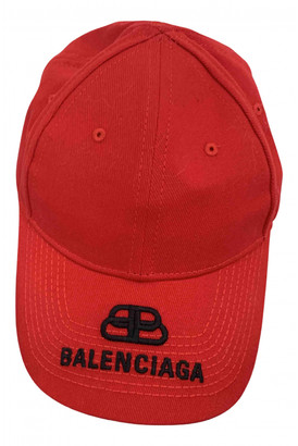 Balenciaga Red Cotton Hats & pull on hats