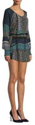 Ramy Brook Brynn Printed Blouson Mini Dress