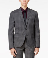 Bar III Men's Charcoal Check Slim-Fit Jacket, Only at Macy's