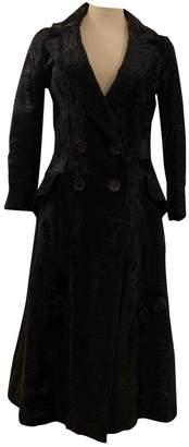 Celine Black Astrakhan Coat for Women Vintage