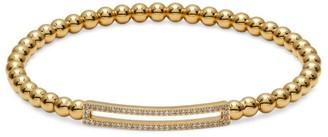 Adriana Orsini 18K Yellow Goldplated Sterling Silver Open Bar Stretch Beaded Bracelet