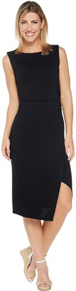 Lisa Rinna Collection Side Ruched Midi Dress