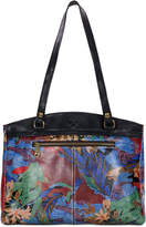 Patricia Nash Blue Forest Poppy Top-Zip Medium Tote