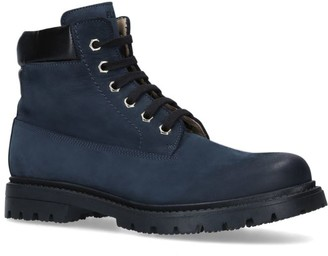Florens Suede Lace-Up Combat Boots