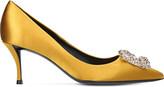Roger Vivier Embellished satin court shoes