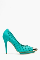Bullet Platform Pump - Perforated Teal