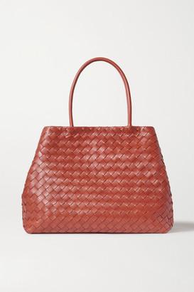 Bottega Veneta Cabas Large Intrecciato Leather Tote - Brown
